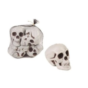 Enfeite Crânio de Esqueleto 6 un. Halloween Cromus Rizzo