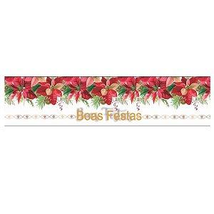 Cinta Panetone G - Boas Festas - 64x9cm - 3 unidades - Erika Melkot - Rizzo