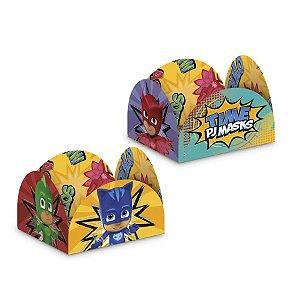 Porta Forminha Festa PJ Masks 50 Unidades Regina Rizzo Embalagens