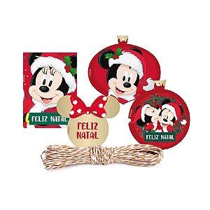 Kit Fechamento P/ Presente - Natal Disney - 1 UN - Cromus - Rizzo