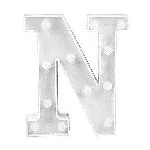Letra LED Decoração Festa - N - 01 unidade - Rizzo Embalagens