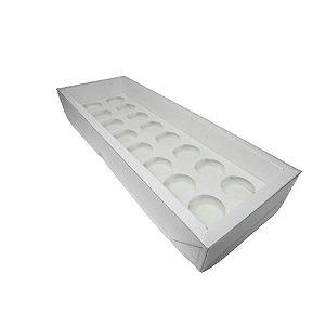 Caixa Base Brigadeiro - Branco - N3 (30,5cm x10cm x3,7cm) - 5 unidades - Assk - Rizzo Embalagens