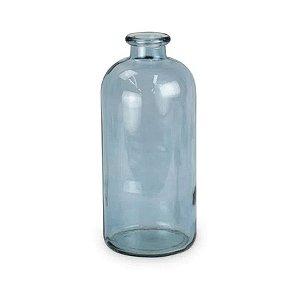 Garrafa Vidro Decorativa Azul Médio 01 Unidade Cromus Rizzo Embalagens