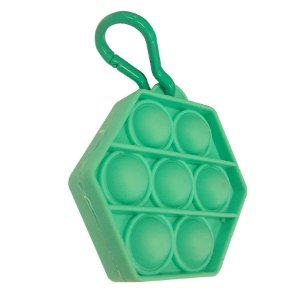 Chaveiro Lembrancinha Festa Pop It Sextavado Verde 01 Unidade Rizzo Embalagens