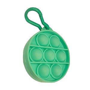 Chaveiro Lembrancinha Festa Pop It Redondo Verde 01 Unidade Rizzo Embalagens