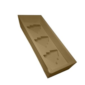 Caixa Base Árvore - Kraft - (30,5cm x10cm x3,7cm) - 5 unidades - Assk - Rizzo Embalagens