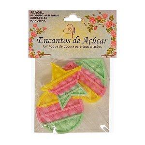 Confeito Pop It - Verde Rosa Amarelo - 25g - 3 UN - Rizzo