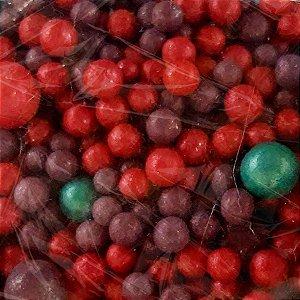 Confeito Pérolas - Rosa e Roxo - 60g - 1 UN - Morello - Rizzo
