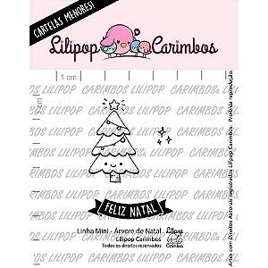 Cartela de Carimbos Mini - Árvore de Natal - Lilipop Carimbos Cod 31000077 - 01 Unidade - Rizzo