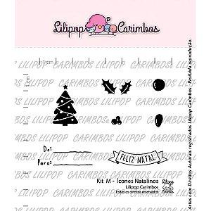 Cartela de Carimbos M - Ícones Natalinos - Lilipop Carimbos - Cod 31000078 - 01 Unidade - Rizzo
