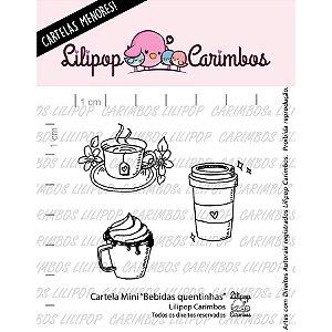 Cartela de Carimbos Mini - Bebidas Quentinhas - Lilipop Carimbos - 01 Unidade - Rizzo