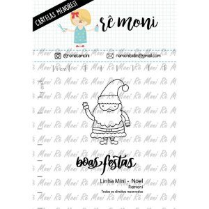 Cartela de Carimbos Mini - Noel - Remoni -  Cod 41000044 - 01 Unidade - Rizzo