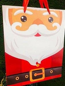 Sacola Decorada Natalina - Papai Noel - 01 unidade - Rizzo Embalagens