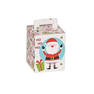 Caixa Panetone 100g Alegria de Natal 10 Unidades Decora Doces Rizzo Embalagens