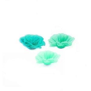 Forminha Flor - Tons Mono - Verde - 50 UN - MaxiFormas - Rizzo