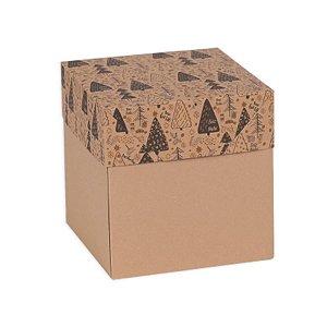 Caixa Kraft 15x15 Gifts Stars Preto 05 Unidades Decora Doces Rizzo Embalagens