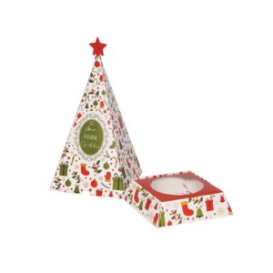 Caixa Arvore Panetone Magia de Natal 03 Unidades Decora Doces Rizzo Embalagens