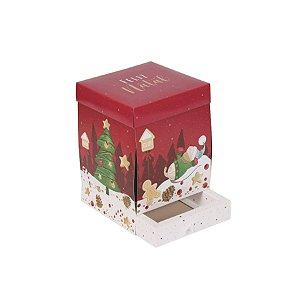 Caixa Explosão com Gaveta e Panetone 500g Natal Mágico 01 Unidade Decora Doces Rizzo Embalagens