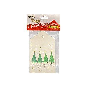 Tag Natalina - Árvore Feliz Natal - 6,6x12cm - 5 UN - Rizzo