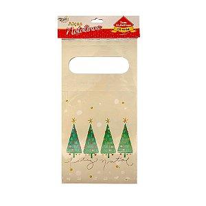 Alça Natalina - Árvore Feliz Natal - 12,8x51cm - 5 UN - Rizzo