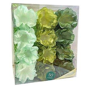 Forminha Flor - Pint Artes - Verde - 50 UN - MaxiFormas - Rizzo