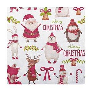 Guardanapo de Papel - Merry Christmas - 32,5cm x 32,5cm - 20 unidades - Cromus Natal - Rizzo