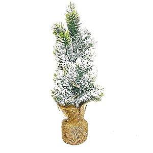 Mini Árvore Pinheiro decorativo Nevado - 30cm - 01 unidade - Natal Tok da Casa - Rizzo Embalagens