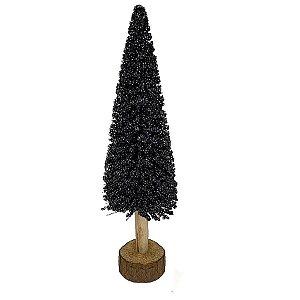 Mini Árvore Pinheiro decorativo  - Preto - 40cm - 01 unidade - Natal Tok da Casa - Rizzo Embalagens