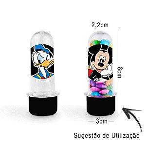 Mini Tubete Lembrancinha Festa Mickey Mouse 8cm 20 unidades - Preto - Rizzo Embalagens