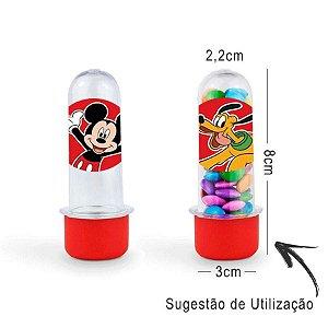 Mini Tubete Lembrancinha Festa Mickey Mouse 8cm 20 unidades - Vermelho - Rizzo Embalagens