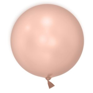 "Balão de Festa Bubble Cromado Rosa Ouro 18"" 45cm - 01 Unidade - Mundo Bizarro - Rizzo Embalagens"