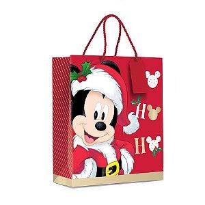 Sacola Premium - Natal Mágico - Mickey - 1 UN - Cromus - Rizzo