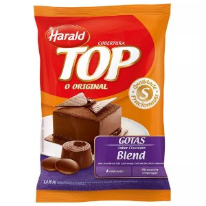 Chocolate Harald - TOP - Cobertura Gotas Blend - 1,05kg - Rizzo