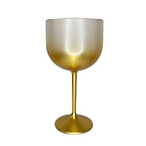 Taça Gin Degrade Dourado 01 Unidade Rizzo Embalagens