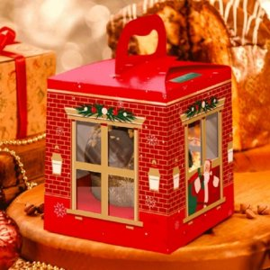 Caixa Para Panetone com Gaveta e Doces 500g Linha Sweet Home Natal - 01 unidade - Rizzo Embalagens