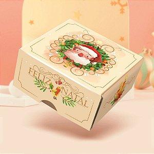 Caixa para 4 Doces Sem Visor Jingle Bell Natal - 10 unidades - Rizzo Embalagens