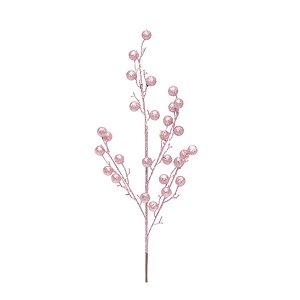 Galho de Frutas Com Glitter - Rose - 1 Unidade - Cromus - Rizzo Embalagens