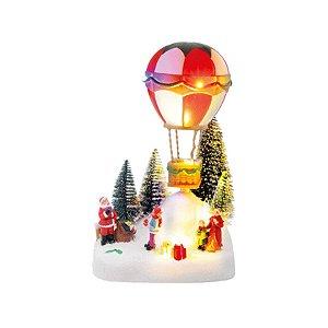 Cenário com Noel e Balão Colorido Natal 1 Unidade - Cromus - Rizzo Embalagens