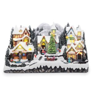 Cenário Vila com Papai Noel e Estação de Trem 1 Unidade - Cromus - Rizzo Embalagens