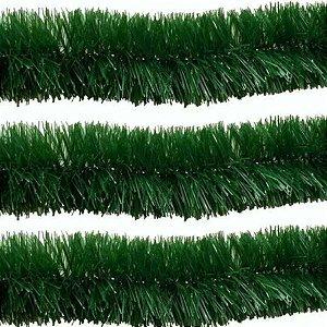 Festão Verde 11cm x 2m Natal - 1 Unidade - Rizzo Embalagens