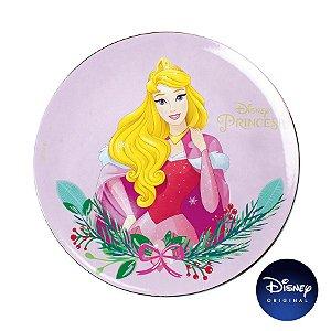 Sousplat Natalino - Princesa A Bela Adormecida - 33cm - 1 UN - Disney Original - Cromus - Rizzo