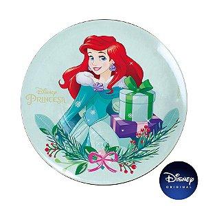 Sousplat Natalino - Princesa Ariel - 33cm - 1 UN - Disney Original - Cromus - Rizzo