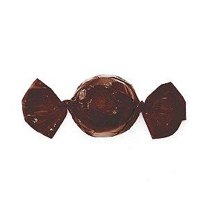 Papel Mini Trufa - 12x12,5cm - Marrom Cafe - 100 unidades - Cromus - Rizzo Embalagens