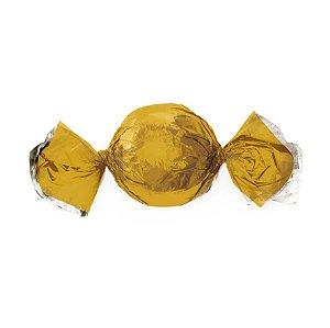 Papel Mini Trufa - 12x12,5cm - Ouro - 100 unidades - Cromus - Rizzo Embalagens