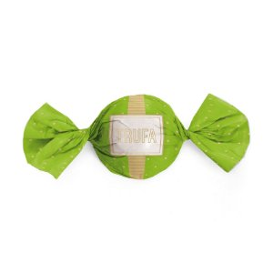 Papel Trufa 14,5x15,5cm - Petit Poa Verde_Ouro - 100 unidades - Cromus - Rizzo Embalagens