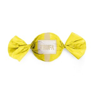 Papel Trufa 14,5x15,5cm - Petit Poa Amarelo Ouro - 100 unidades - Cromus - Rizzo Embalagens