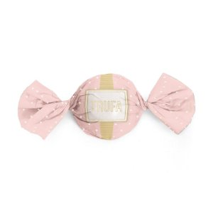 Papel Trufa 15x16cm - Petit Poa Rosa Ouro - 100 unidades - Cromus - Rizzo Embalagens