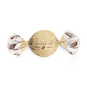 Papel Trufa 14,5x15,5cm - Cacau Ouro - 100 unidades - Cromus - Rizzo Embalagens