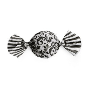 Papel Trufa Arabesco Preto Branco 14,5x15,5cm - 100 unidades - Cromus - Rizzo Embalagens