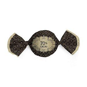 Papel Trufa 15x16cm - Gostosura 70% Cacau - 100 unidades - Cromus - Rizzo Embalagens